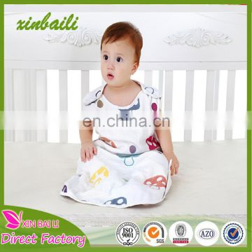 High Quality Muslin 5 layers 100% Cotton Baby Sleeping Bag