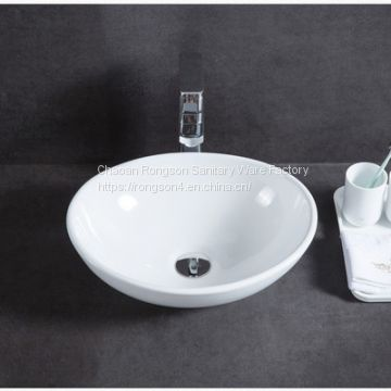 . Popular good design tabletop simple white sink of wash basin from