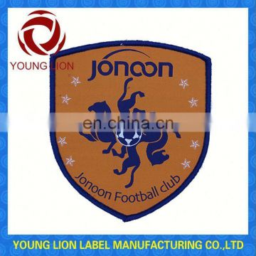 soccer woven badge for sports with low price