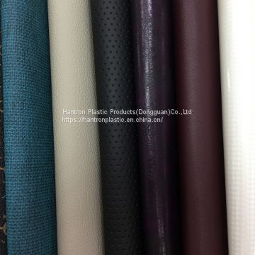 Enviromental abrasion resistance FR PVC artificial leather