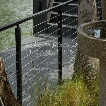 Modern Design Stainless Steel Cable Railing / Wire Balustrade for Balcony
