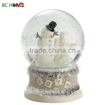 100MM Resin Christmas snow globe, musical auto-snowing water globe ,snow globe for gifts