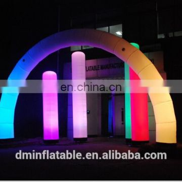 2014 Giant outdoor inflatable christmas arch with LED light