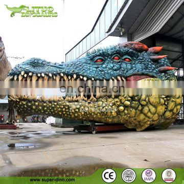 Customer Made Giant Animatronic Animal Model Crocodile Head