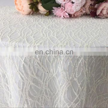 TC223A new angel round promotional table cloth ivory