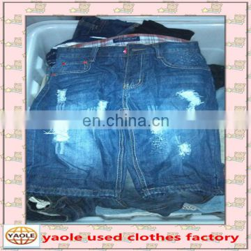 Summer Season Cotton Material Used Jeans used clothes in bales