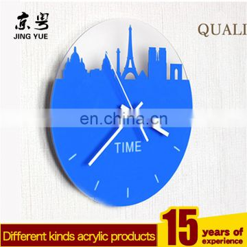New design black plastic plexiglass acryilc wall clock