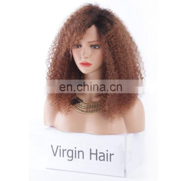 Youtube sex afro kinky curly hair lace front human hair wig