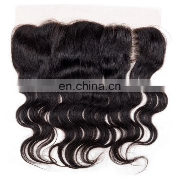 100% human hair lace frontal closure free part lace closure 13*4 lace closure