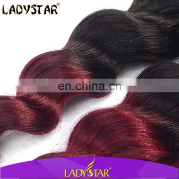 High-end ombre loose wave hair extension/loose wave ombre hair looking for distributors