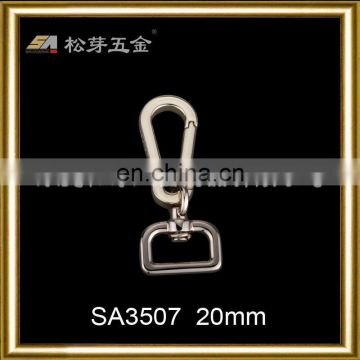 Song A Metal fashion light golden metal snap hooks logo on side for handbags