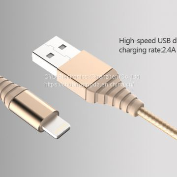 MFi-certified USB to Lightning Cable in Gold, Suitable for iPhone