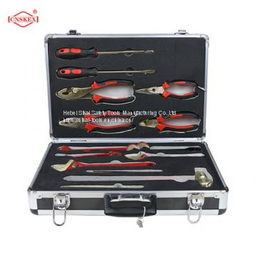 non sparking beryllium copper aluminum bronze hand tools set 15pcs