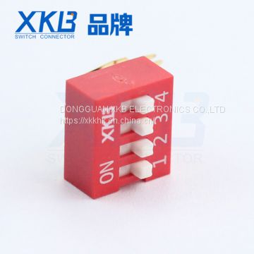 XKB brand Gold plated side insert 4 gear dip switch