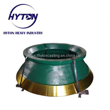 crusher component parts of high manganese steel suit hp700 metso cone crusher
