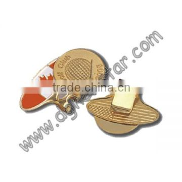Bronze golf divot tool and ball marker