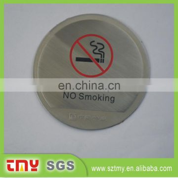 High Quality Cheap Warning Custom Stainless Steel No Smoking Signs For Desk