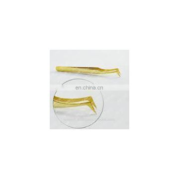 LASHVIEW Honorable Golden Tweezers Tools Especially for 3D Volume Mink Eyelash extension Lashes