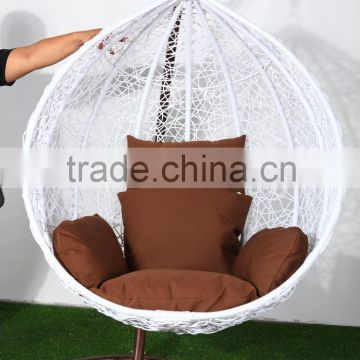 all weather round hanging egg chair, swing for dacha