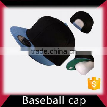 Black faux leather blank baseball cap