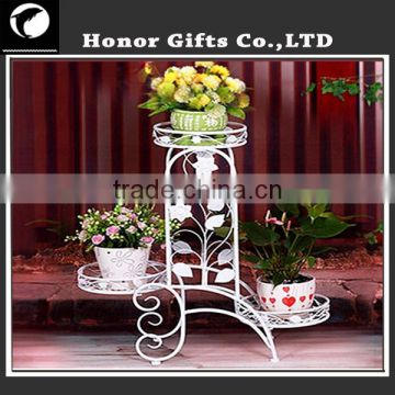 Heart Welcome Flower Planter Stands Elegant Arch Design Plant Stand