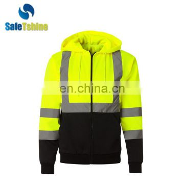 High quality reflective safety sweater for work man
