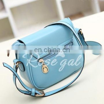 Sweet Candy Color and Buckle Design Women's Crossbody Bag
