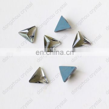 DZ-1069 flat back triangle cut crystal rhinestones for jewelry