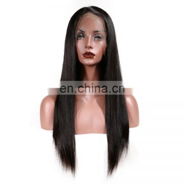 Indian human hair wigs virgin full lace wig