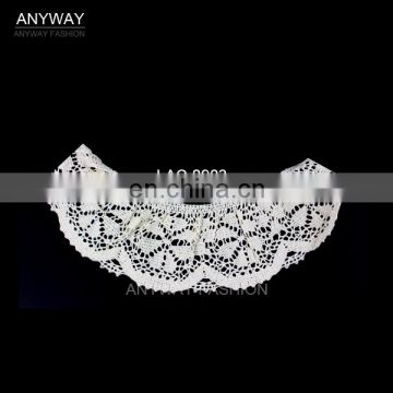 New tendency hot sale white guipure lace for women collar