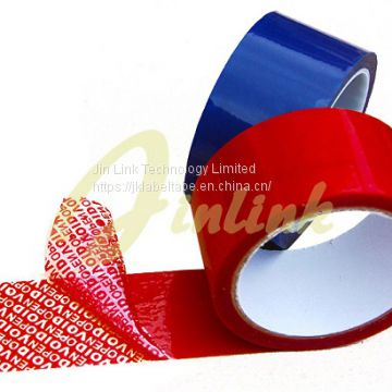 Partial transfer Tamper Proof Security VOID tape,Tamper Proof VOID Tape,Total Transfer Tape