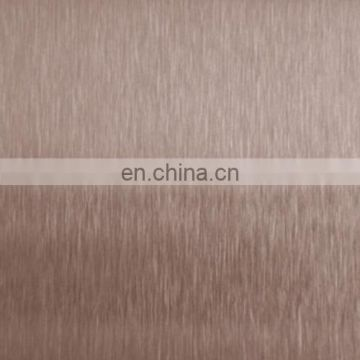 Brown brush colored stainless steel sheet for decoration