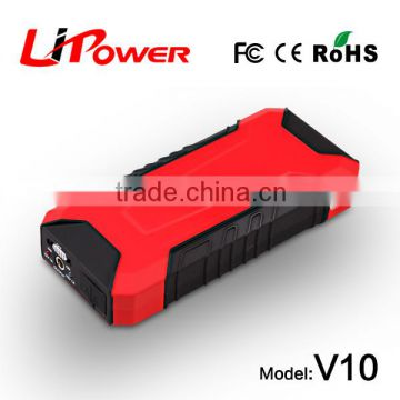 12000mah Multi-function car battery jump starter with intelligent clamps