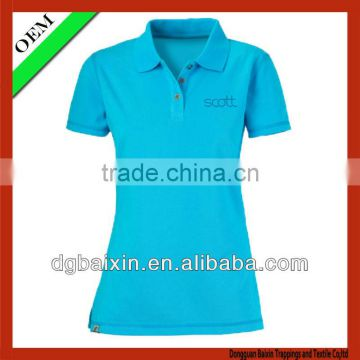 Women's simple polo shirt,provided by china supplier