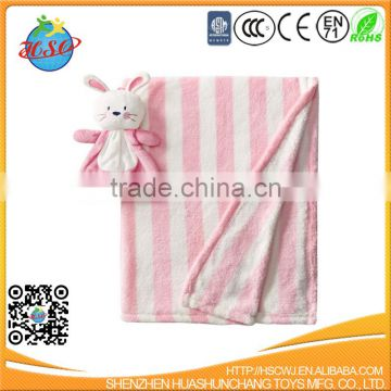 Embroidery Soft Rabbit Animal Blanket