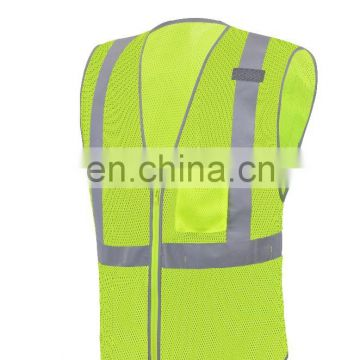 EN ISO 20471 wholesale safety vest high visibility Reflective safety vest with safety tape