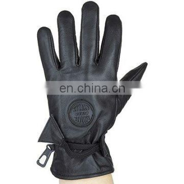 HMB-2088A LEATHER BIKER GLOVES THINSULATED DRIVING GLOVES