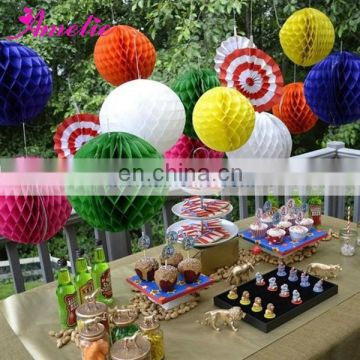 A10PH Round Ball Honeycomb Christmas Paper Decorations
