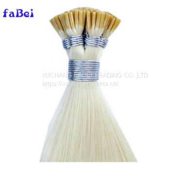 Wholesale 100% Virgin Brazilian Human U Tip Hair 8A Blonde 613/60 Keratin Pre-Bonded U Tip Hair Extensions For High-End