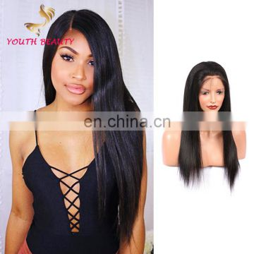 Youth Beauty Hair 2017 best saling 9A Indian human hair 360 lace front wig in silky staright wholesale price