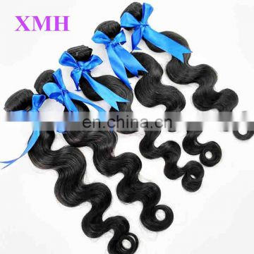 No tangle free shedding cheap human hair malaysian body wave hair bundle