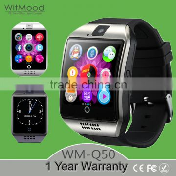 Witmood 2016 Men's Bluetooth Smart watch Q18 Waterproof Support NFC SIM TF Card GSM Built-in Camera Smartwatch For Android ios p