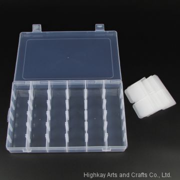 Plastic Adjustable Compartment Jewelry Collection Bracelet Ring Necklace Earring Display Box 36 Compartments