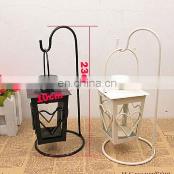 VADH04 black white metal heart shaped candle holder for wedding decor heart candle holders for events decor