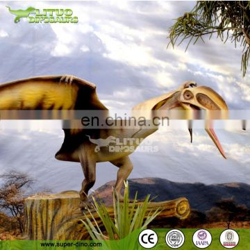 Display Silicon Rubber Animatronic Flying Dinosaur Model