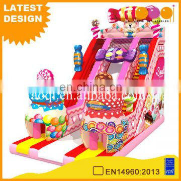 Hot Commercial Cheap Giant Inflatable Candy Slides for kids,Inflatable Slides from Professional Manufacturer