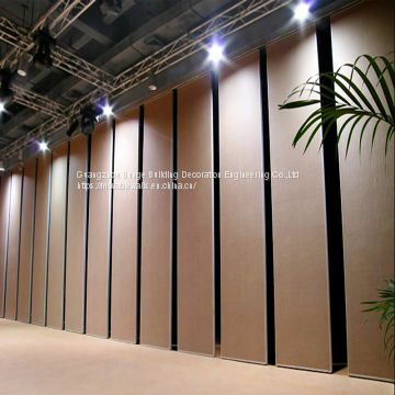 Aluminium Track Roller Folding Soundproof Partition Wall Sliding Partition Wall