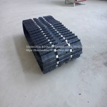 Embedded Iron and Silver Aluminum Sheet for Large Sizes of Snow Rubber Tracks
