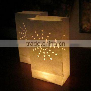 Luminaria Paper Lantern Candle Bag For Xmas Bbq Party