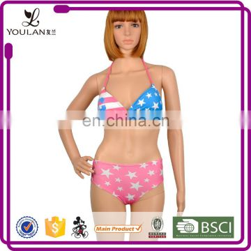 China Factory Top Selling Magnificently Fit Slim Uk Flag Bikini
